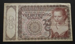 Hollandia 25 gulden 1943