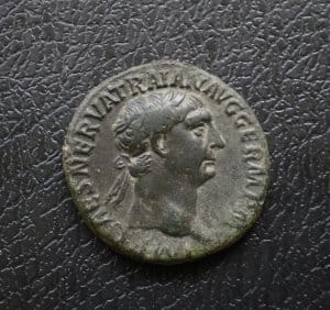Traianus bronz As