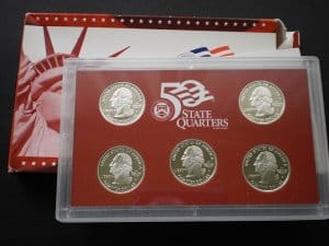 USA State Quarters PP set 2005 ezüst!